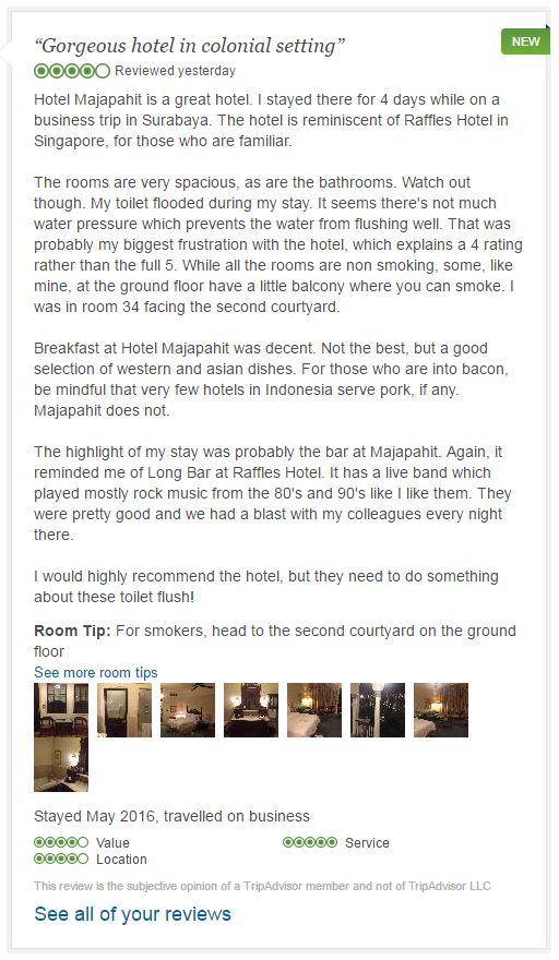 Hotel Majapahit Surabaya review