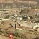 새로 지어진 국경경비 초소. 수해 후 가장 먼저 개건된 것은 탈북을 막기 위한 경비 초소였다고 한다.(아시아프레스)