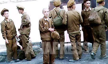영양실조로 병원에 후송 중인 건설 전문 공병들. 2011년 7월 평안남도에서 김동철 촬영 (아시아프레스)