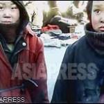 Homeless Kotchebi girls hang around the market all day begging for food. (January. 2011. North Pyongan Province, by Kim Dong-cheol. (January. 2011. North Pyongan Province, by KimDong-cheol) (C)ASIAPRESS