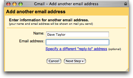 Google Gmail: Add Another Email Address