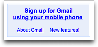 Sign up for a Gmail account with your mobile phone