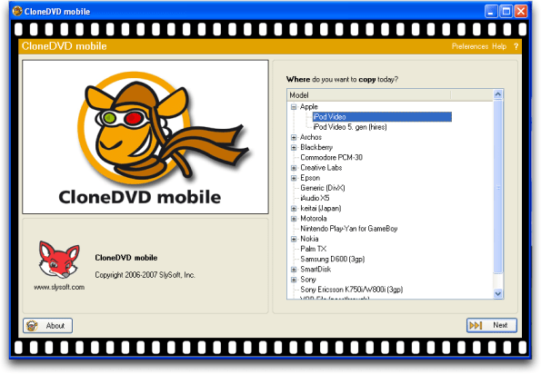 Clone DVD in Windows XP / Parallels on a Mac converting a commercial DVD movie for the iPhone