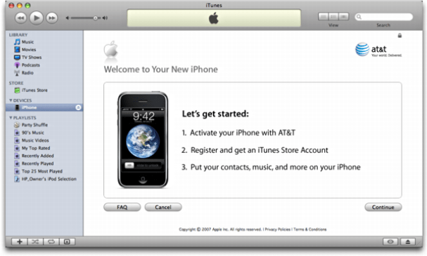 iTunes on Mac OS X: Apple iPhone: Get Started