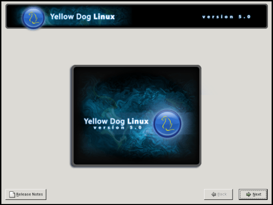 Yellow Dog Linux being installed on a Sony Playstation 3 PS3