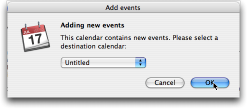 Apple Mac OS X iCal: Adding New Events