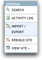 Import/Export Menu in Movable Type