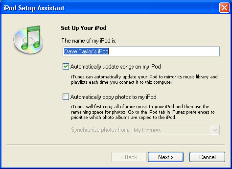 Windows XP / Apple iPod / Apple iTunes: Setup Your New iPod