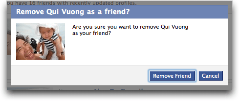 Facebook Remove Friend