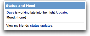MySpace: Status and Mood: Classic Skin