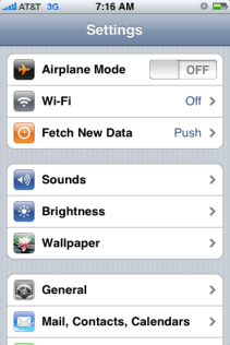 apple iphone settings 2