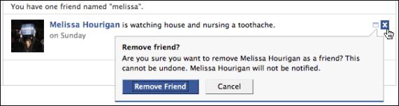 facebook friends unfriend melissa hourigan