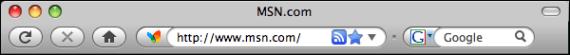 firefox address bar rss