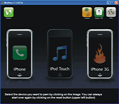 Apple iPhone unlock/jailbreak WinXP winpwn