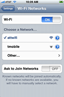 starbucks attwifi iphone choose att wifi