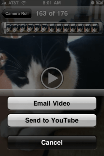 apple iphone video editing send