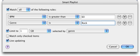 apple itunes ipod smart playlist shuffle