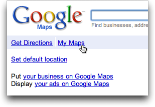 google maps my maps
