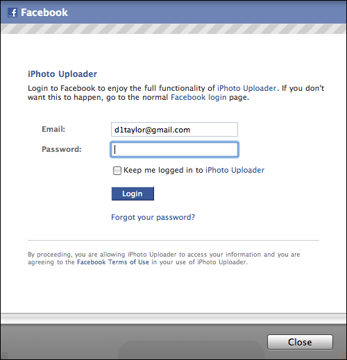 iphone publish to facebook 2