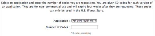 itunes connect request promotional promo codes 2