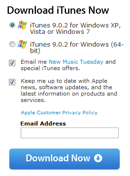 windows vista download itunes