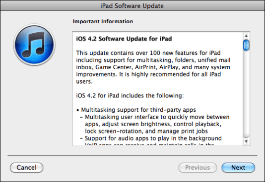 apple ipad update ios 3