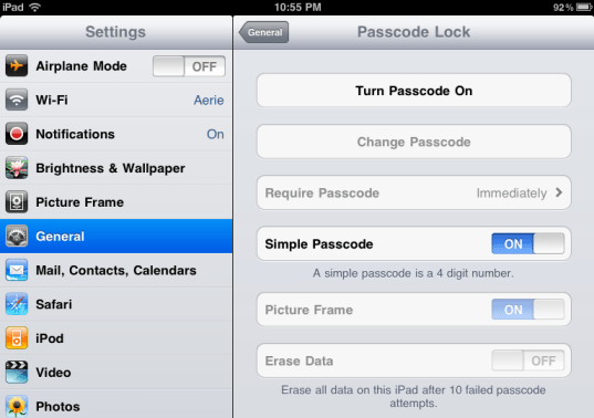 ipad lock secure access 3