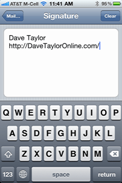 iphone change default email signature 5
