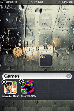 iphone create app folder 3