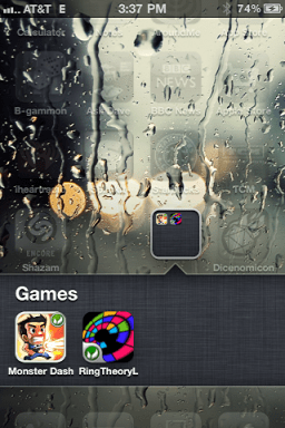 iphone create app folder 5