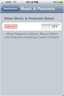 iphone limit explicit lyrics itunes 6