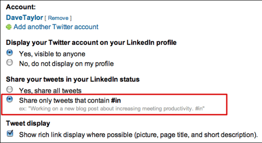 linkedin add twitter account 5