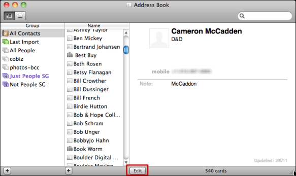 mac address book add birthday 1