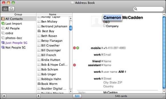 mac address book add birthday 2