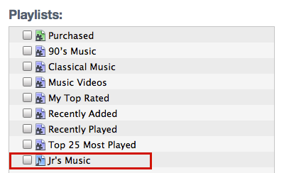 mac itunes sync music playlists