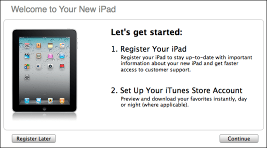 ipad2 register setup new ipad 2 1