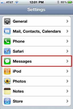 iphone text message privacy 2