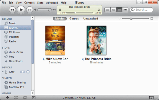 win7 itunes add movie ipod 1