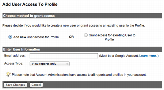 add google analytics access 3
