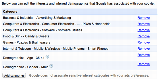 google ad settings 3
