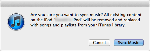 itunes remove tunes not sync 1