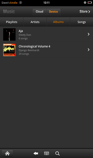 kindle fire music player 2