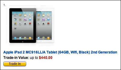 amazon trade in ipad 1