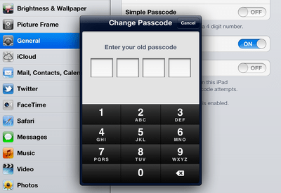 ipad complex password 2