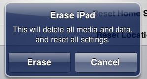 ipad wipe reset clear 5