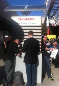 sharp solar charging station ces