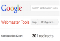 google webmaster tools: 301 redirection