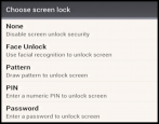 android droid phone security options