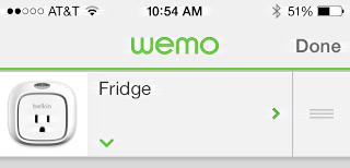 export energy usage data from wemo app