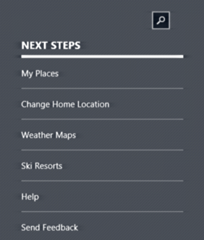 win8 weather app settings and preferences